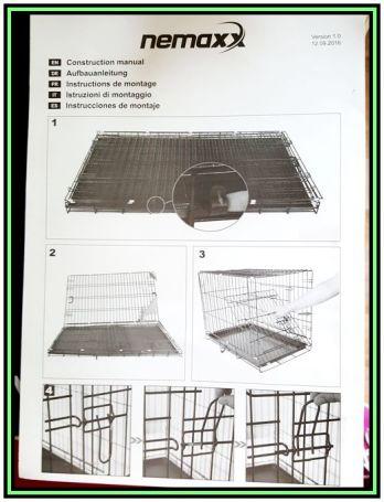 Produkttest Nemaxx Transportbox Transportkäfig Drahtkäfig Klappbar ...